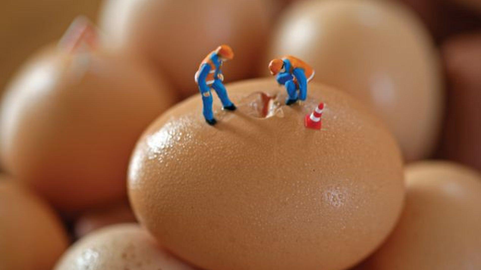 Grieta en la cáscara de huevo