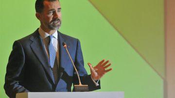 El príncipe Felipe durante su intervención en el IX Encuentro Empresarial Iberoamericano