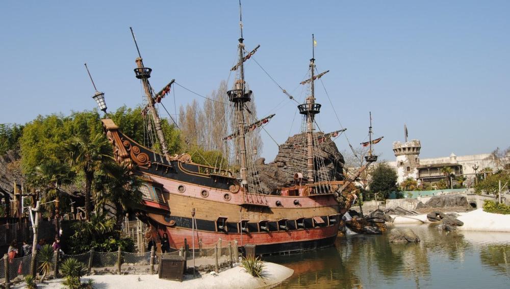 Atracción de Piratas del Caribe en Eurodisney París