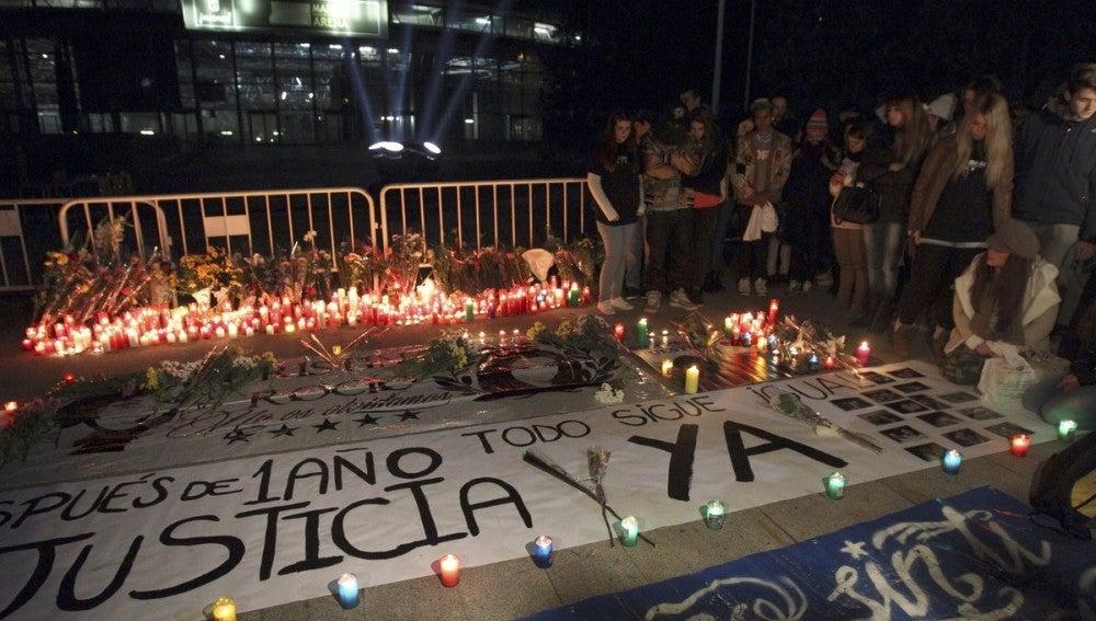 Vigilia homenaje a las víctimas del Madrid Arena