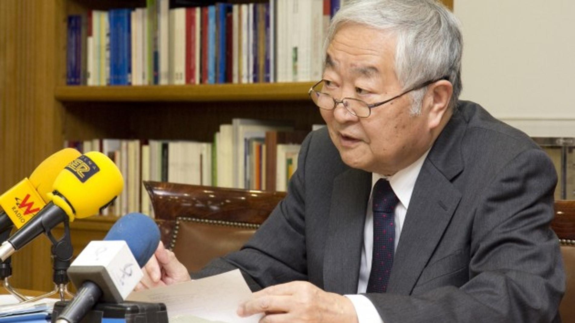 Yotaro Hatamura durante la rueda de prensa ofrecida en la sede de la Fundación Ramón Areces