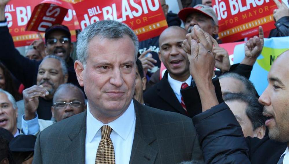 El candidato demócrata a la alcaldía de Nueva York, Bill de Blasio