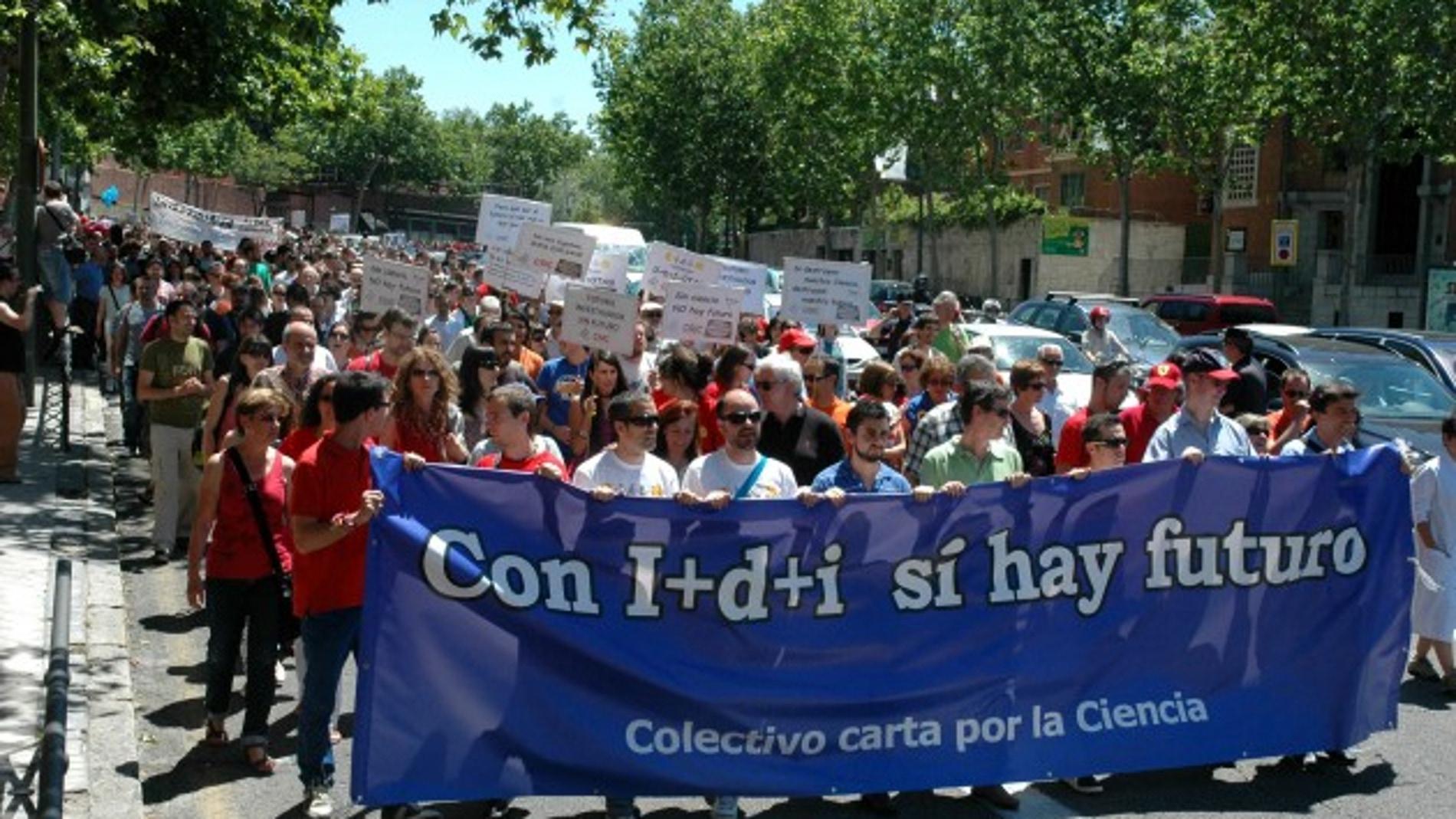 Manifestación de científicos, el pasado 14 de junio en Madrid