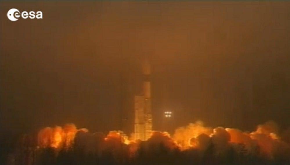 Lanzamiento de los satélites Swarn
