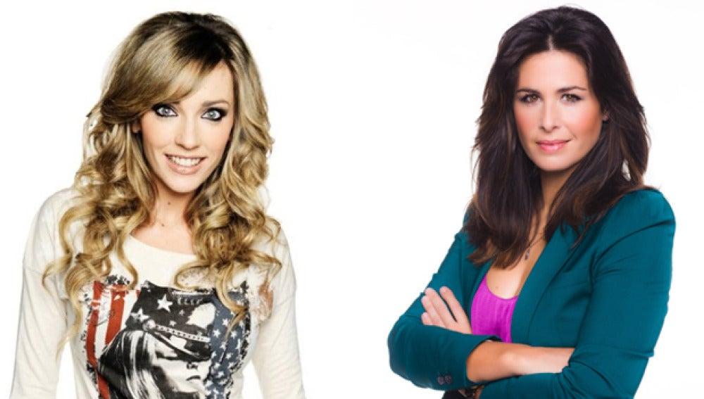 Anna Simon y Nuria Roca en 'Zapeando'