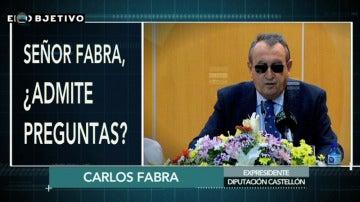 """""""¿Admite preguntas, señor Fabra?"""" """"Depende de qué preguntas"""""""