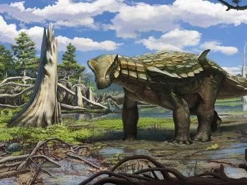 El anquilosauro de Ariño.