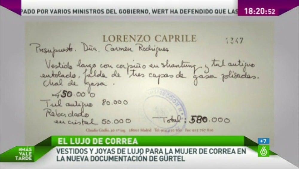 LA SEXTA TV | La trama Gürtel financió el vestido de la mujer de ...