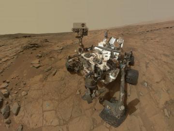 Curiosity. Sólo el robot marciano fue capaz de hacer sombra al higgs durante el año pasado.