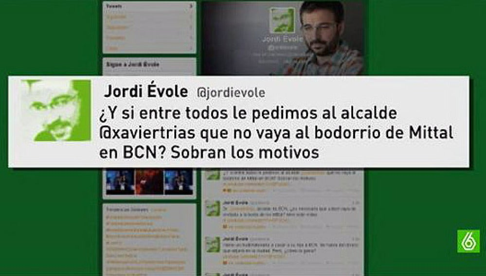 Twit Jordi Évole sobre la boda