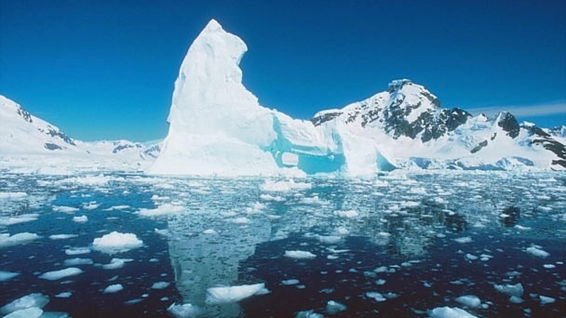 Hielo en la Antártida