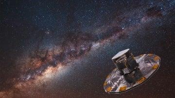 Recreación del satélite Gaia en el espacio