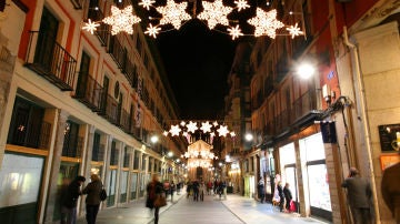 Iluminación de Navidad en las calles de Valladolid