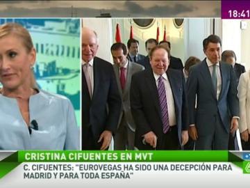 Cristina Cifuentes en Más Vale Tarde