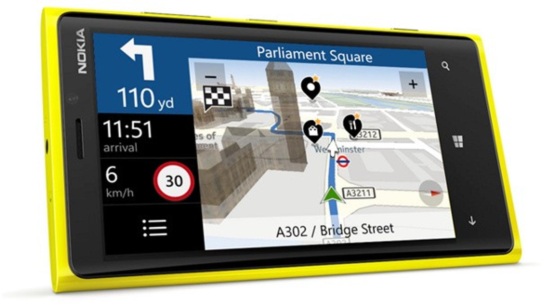 Nokia Lumia con Here Maps