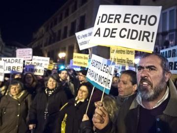 Concentración frente al Ministerio de Justicia contra el anteproyecto de reforma de la ley del aborto