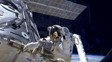 El astronauta James H. Newman