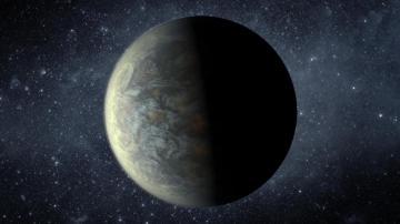Recreación del planeta rocoso Kepler 20f