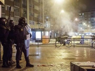 El barrio de Gamonal en Burgos ha vuelto esta noche a ser escenario de graves incidentes
