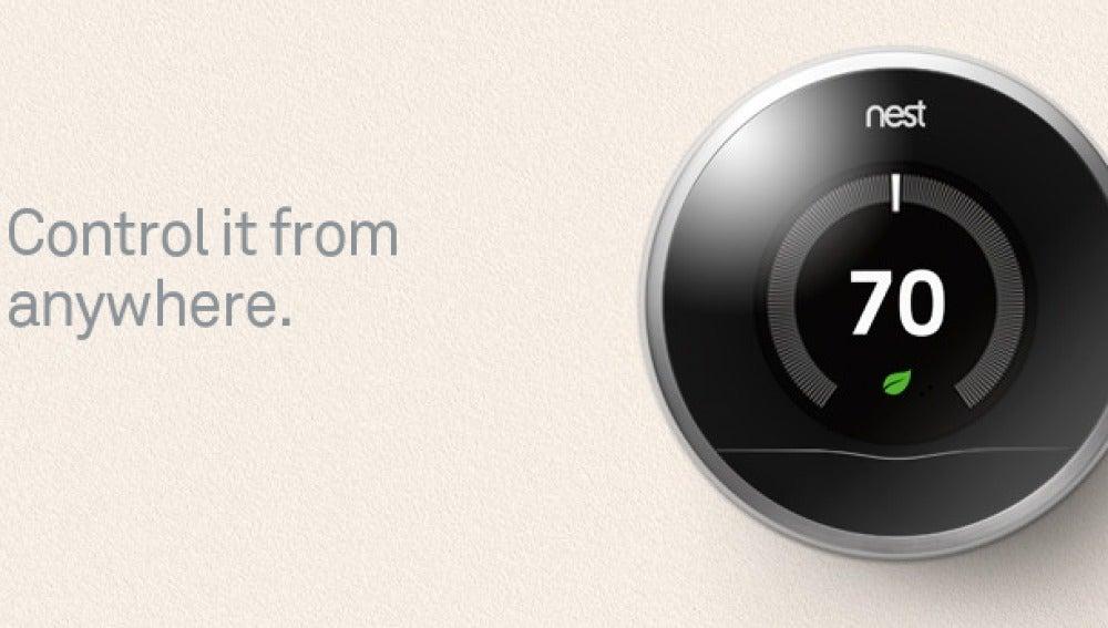 Un termostato inteligente, uno de los productos de Nest