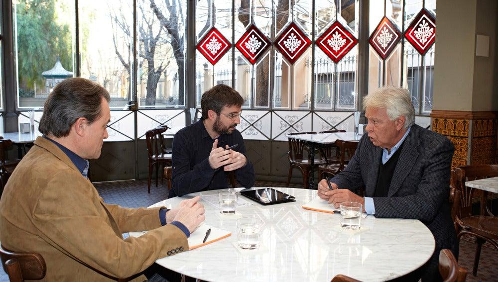 Cara a cara entre Artur Mas y Felipe González