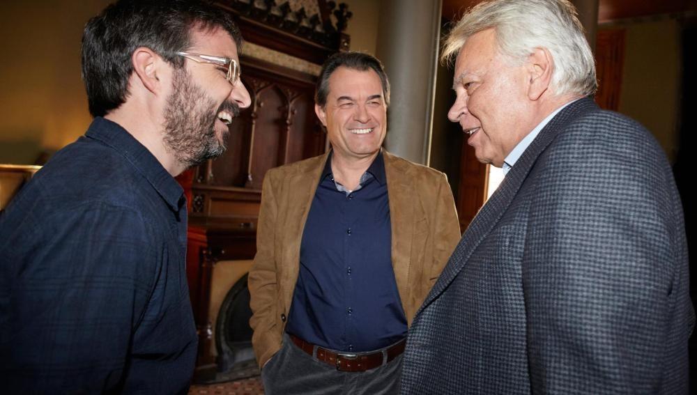 Cara a cara entre Artur Mas y González