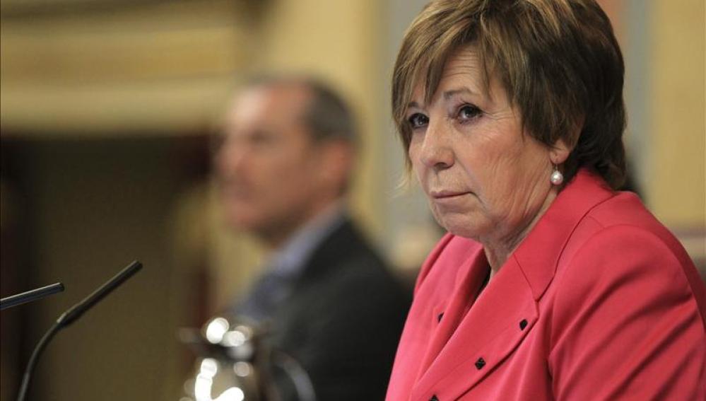Celia Villalobos, en una sesión en el Congreso de los Diputados
