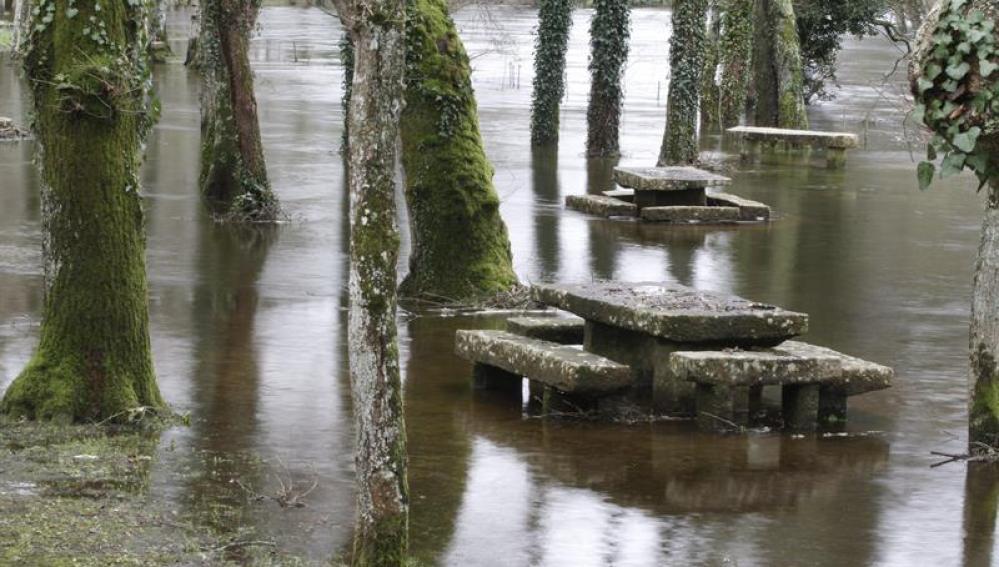 El río Miño en Santa Isabel en Outeiro de Rei