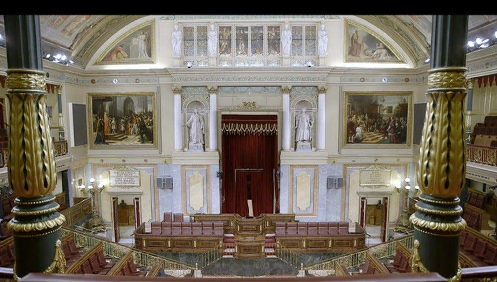 Panorámica interior del Congreso de los Diputados