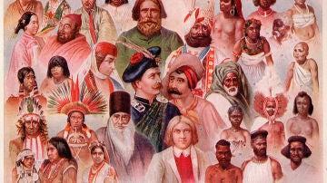 Ilustración con diferentes grupos étnicos