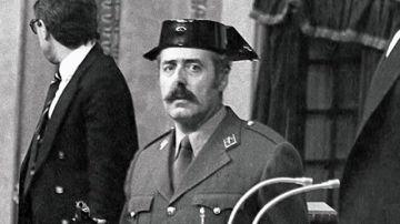 Antonio Tejero, en el 23F