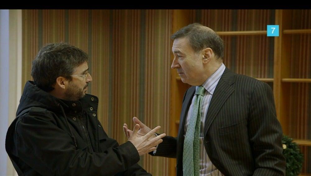 Pedro J. charla con Jordi Évole en Salvados
