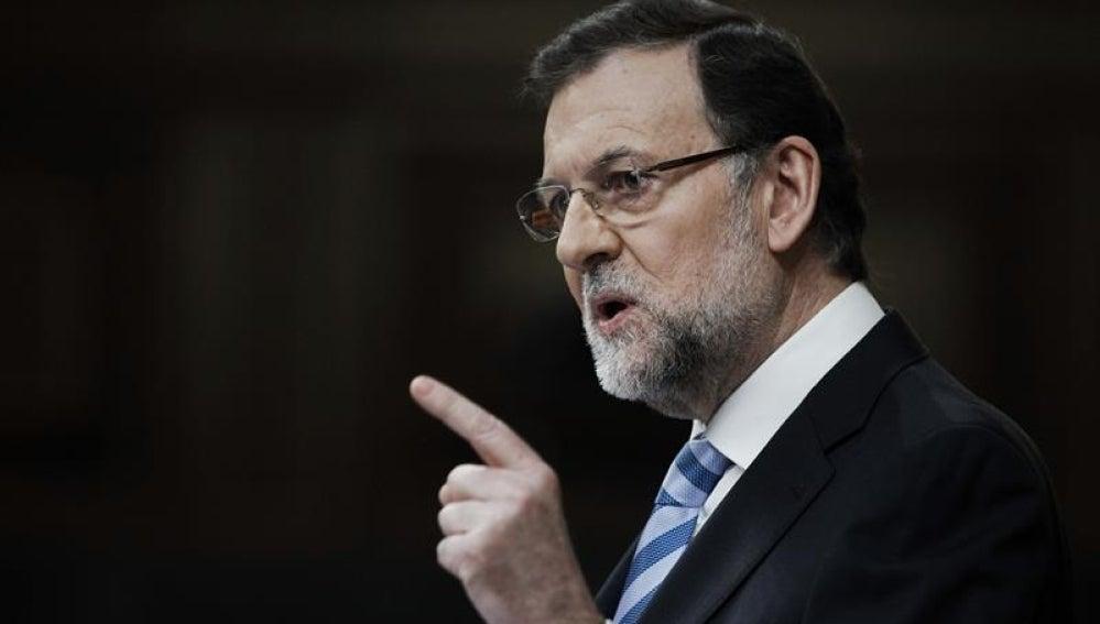 El presidente del Gobierno, Mariano Rajoy en su intervención en el Debate del estado de la Nación.