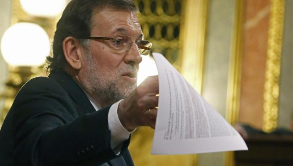 Mariano Rajoy en el Congreso de los diputados