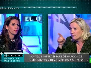 Máxima tensión entre Marine Le Pen y Ana Pastor