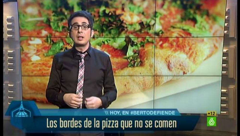 Berto defiende los bordes de las pizzas