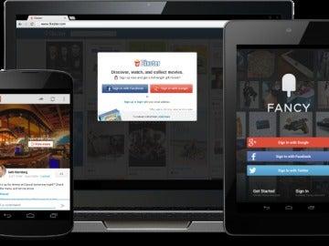 Ejemplos de servicios con login social