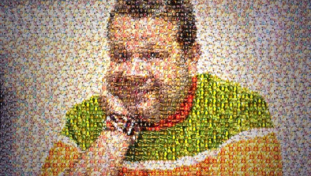 El mosaico de Alberto Chicote con las fotos de su imitadores