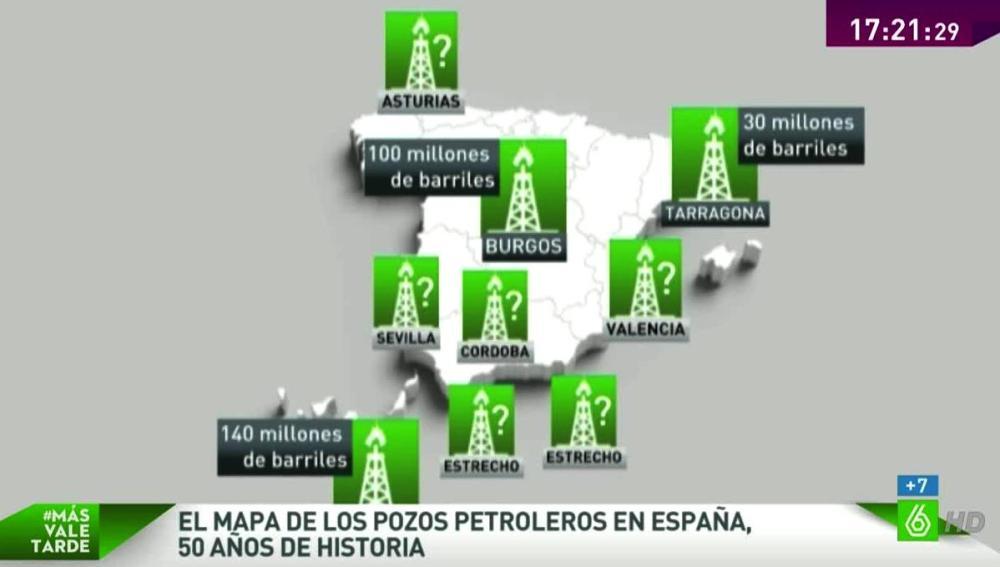 Mapa del petróleo