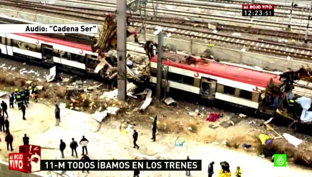Imagen de los trenes en Atocha