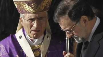 El presidente del Gobierno conversa con el cardenal arzobispo de Madrid