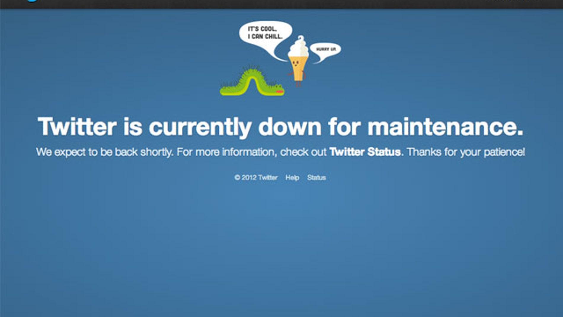 Caída Twitter