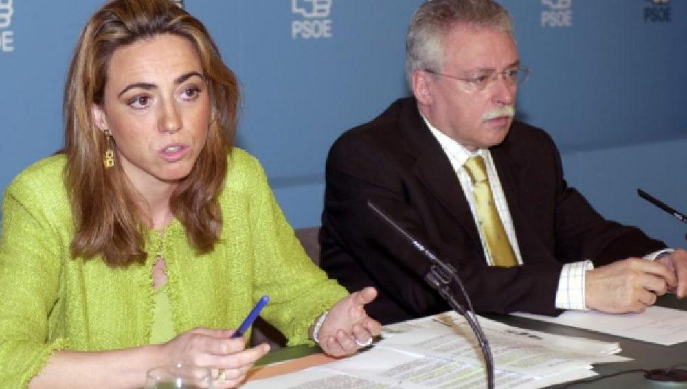 Joaquín Leguina junto a Carmen Chacón