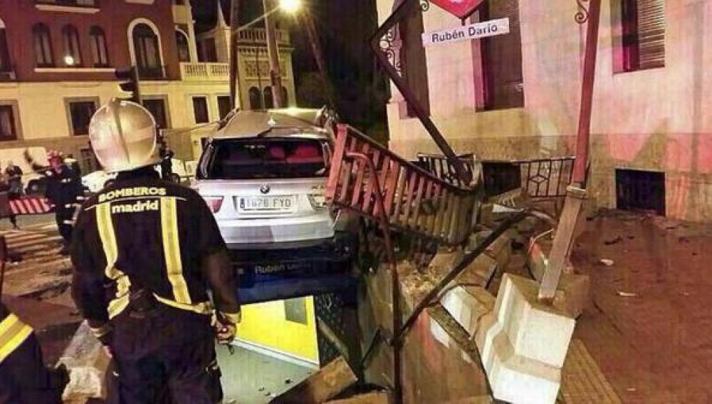 Accidente de coche Rubén Darío