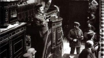 Antonio Tejero Díez en el golpe de Estado del 23F