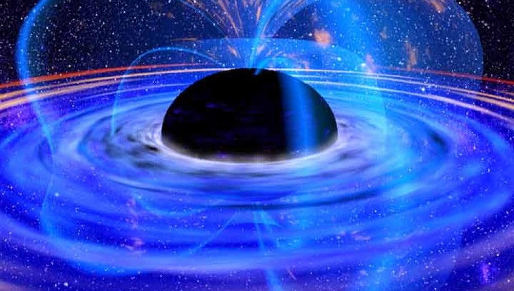 Concepción artística de un agujero negro