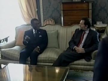 El dictador Obiang junto a Rajoy