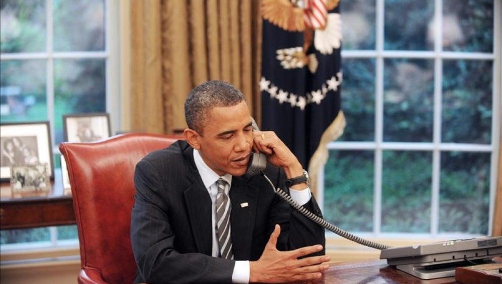 El presidente de Estados Unidos, Barack Obama, en su despacho de la Casa Blanca.