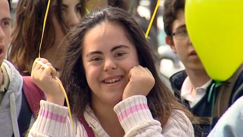 Mujer con síndrome de Down