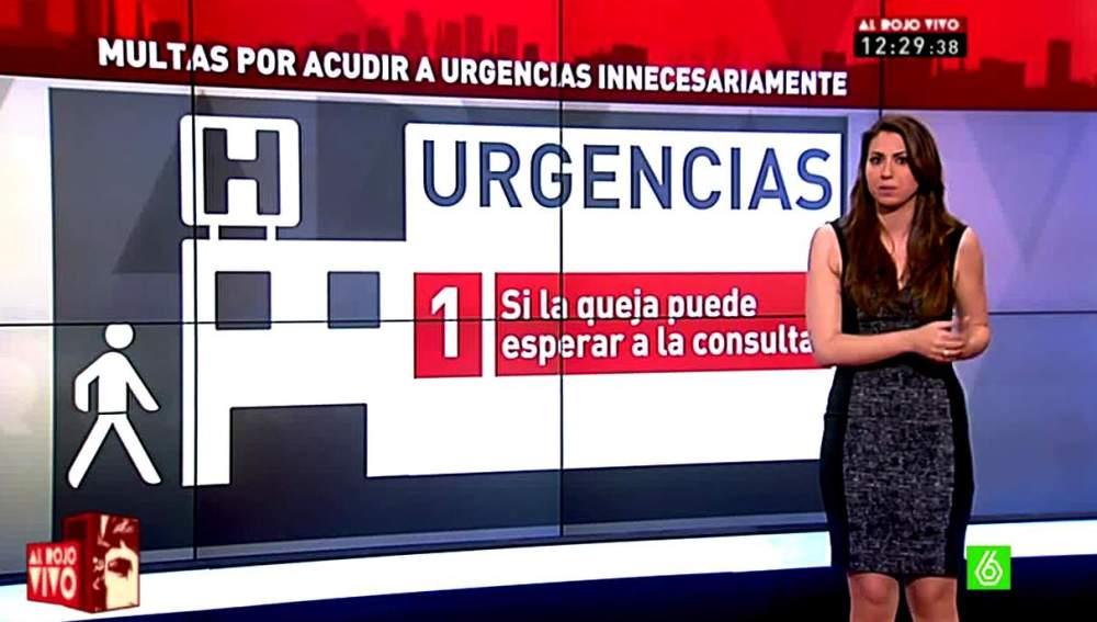 Inés García analiza las multas por ir a urgencias